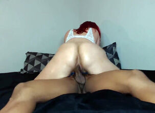 Latina riding big dick